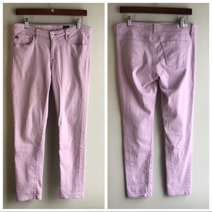 AG Adriano Goldschmied Stevie Ankle Jeans in Lilac